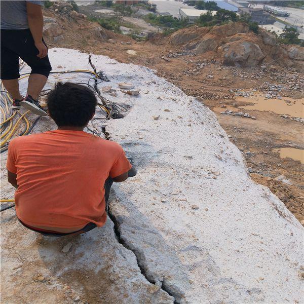 广州矿山开采岩石用劈裂机出料大小哪个厂家的好