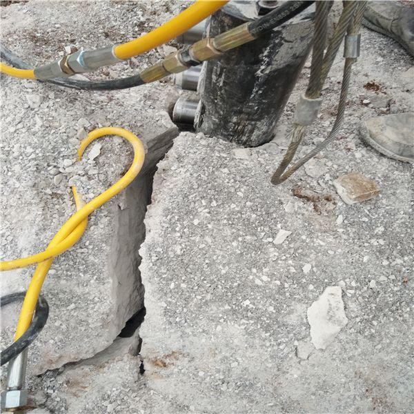 湖南巷道分解石层打石头机破碎岩石设备低成本产量高